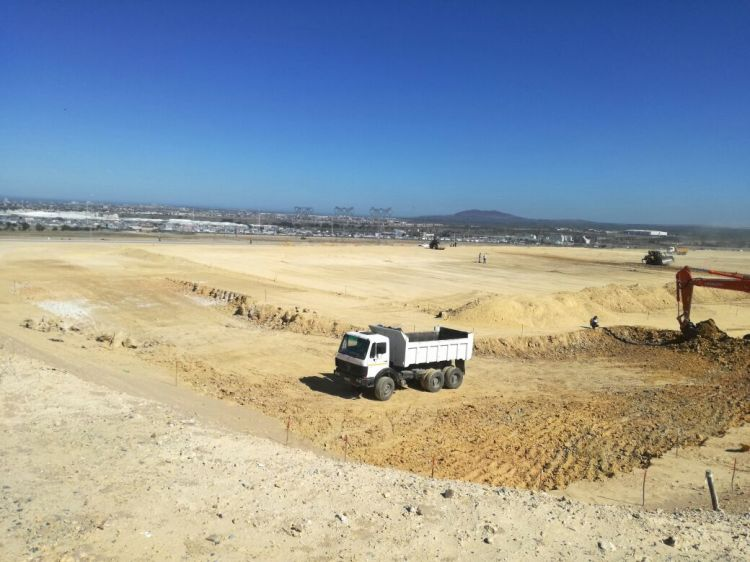 Earthworks in progress